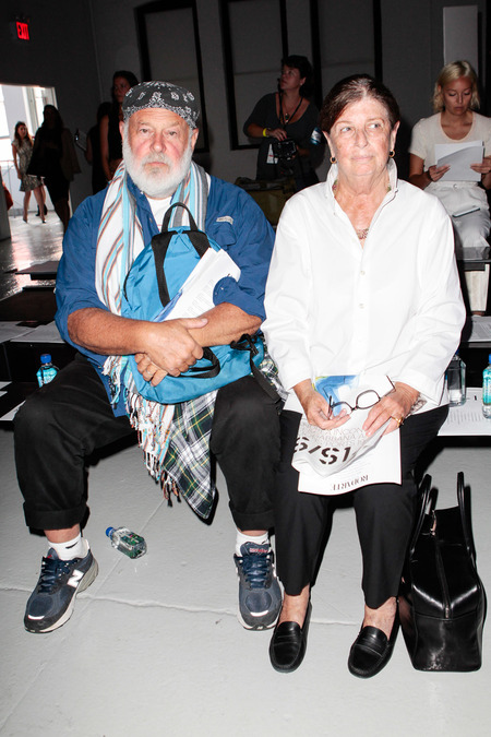 Bruce Weber and Nan Bush
