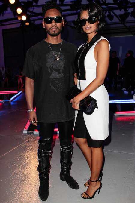 Miguel with Nazanin Mandi