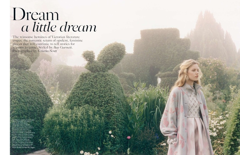 Dream a Little Dream Georgia May Jagger by Venetia Scott Styled by Bay Garrett