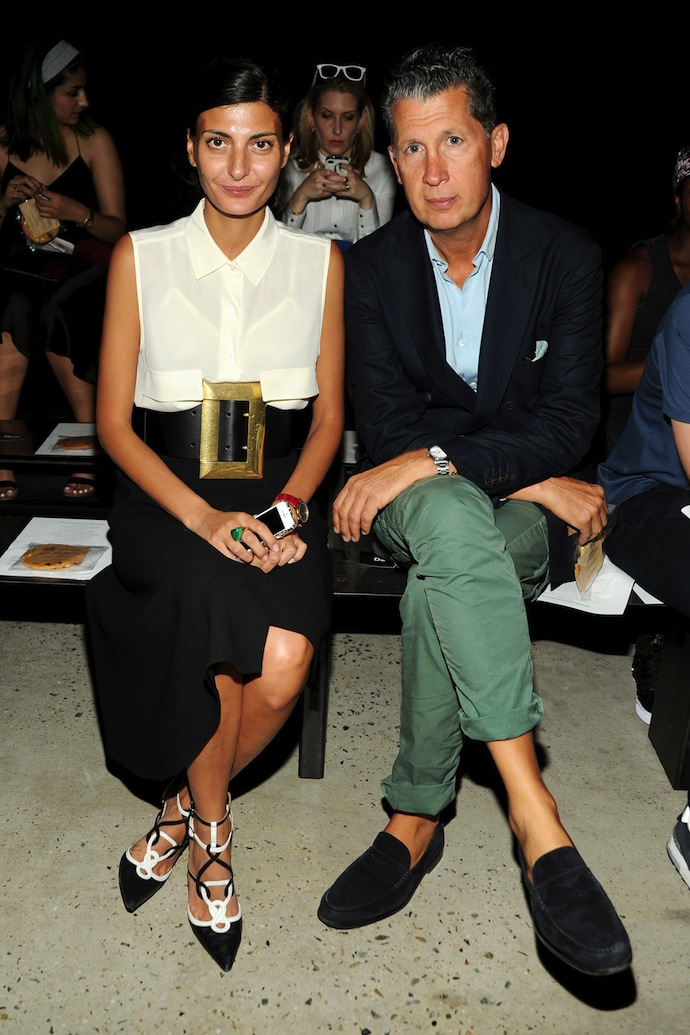 Giovanna Battaglia and Stefano Tonchi