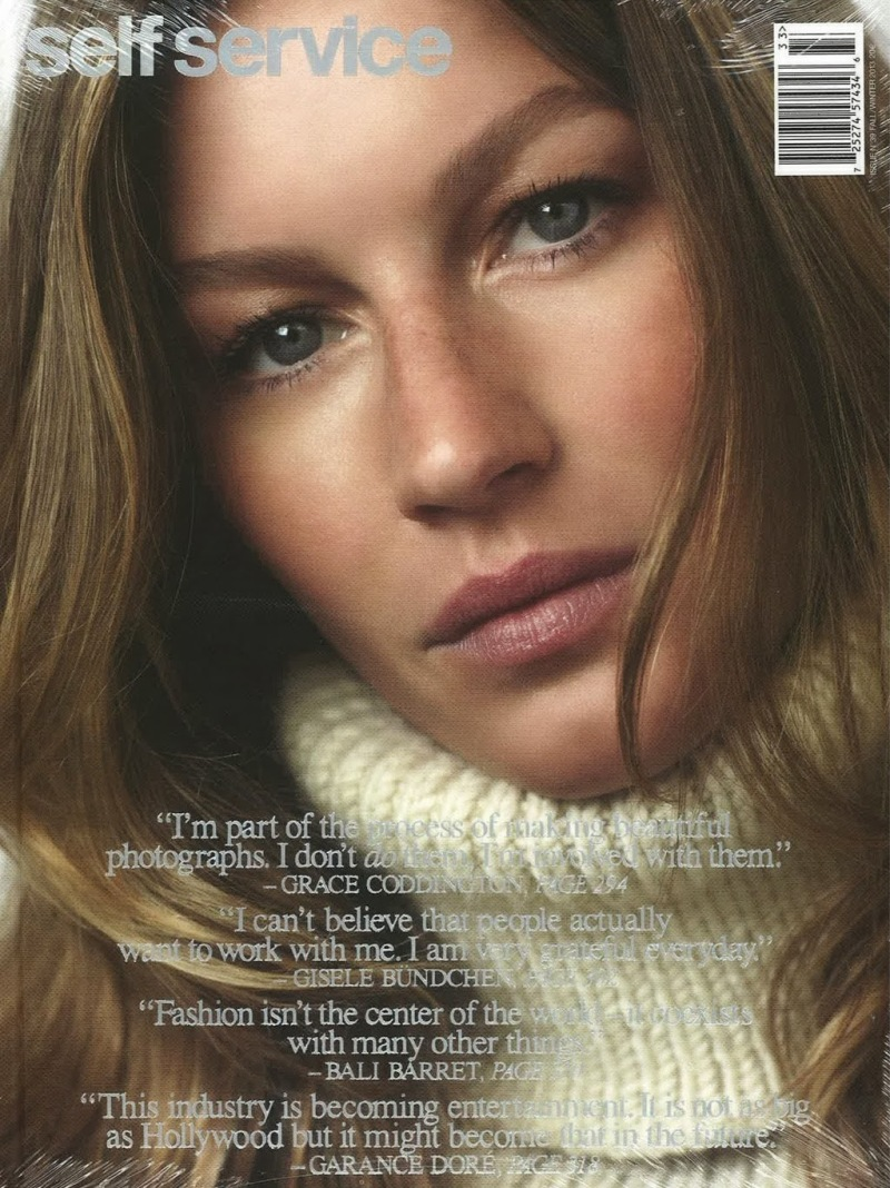 GISELE BUNDCHEN FOR SELF SERVICE ISSUE 39 Fall 2013
