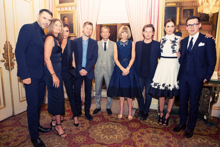 Green Carpet Challenge participants with Natalie Massenet, Mark Dybul, Anna Wintour, and Livia Firth