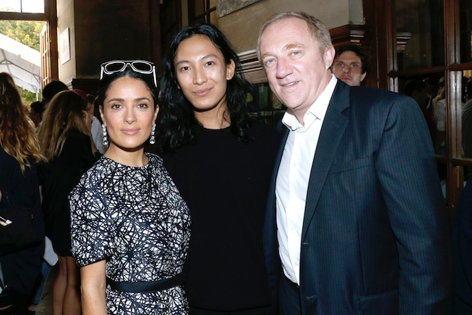 Salma Hayek, Alexander Wang and Francois Henri Pinault