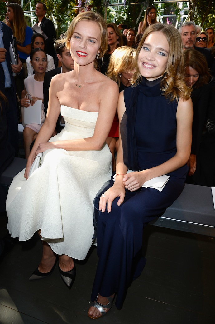 Eva Herzigova and Natalia Vodianova