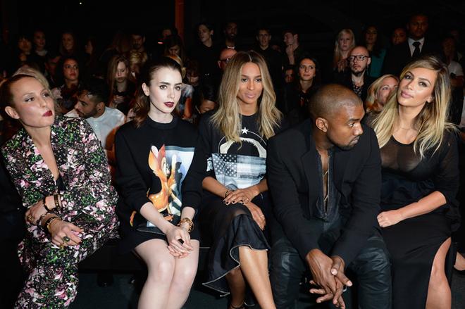 Actresses Noomi Rapace, Lily Collins, singer Ciara, Kanye West and Kim Kardashian