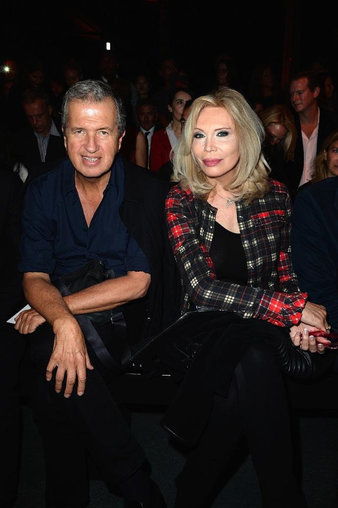 Mario Testino and Amanda Lear