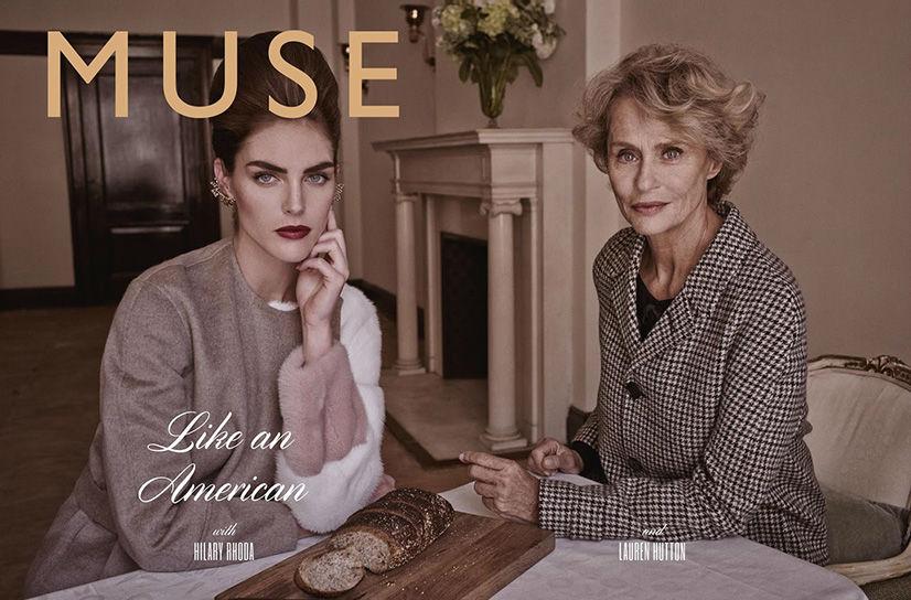 Hilary Rhoda & Lauren Hutton by Mariano Vivanco for Muse Magazine Fall 2013