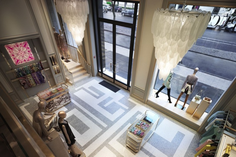 Inside Emilio Pucci's Avenue Montaigne boutique.