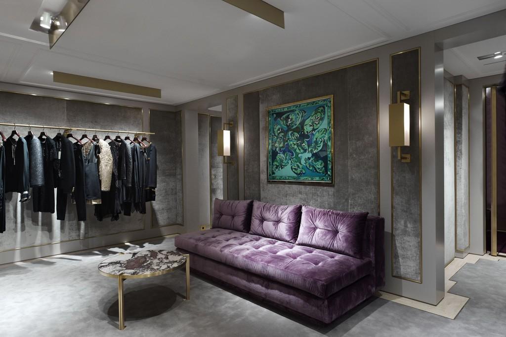 Inside Emilio Pucci's Avenue Montaigne boutique.