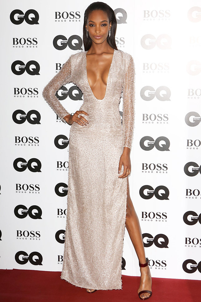 Jourdan Dunn The supermodel smoulders in a Hugo Boss dress