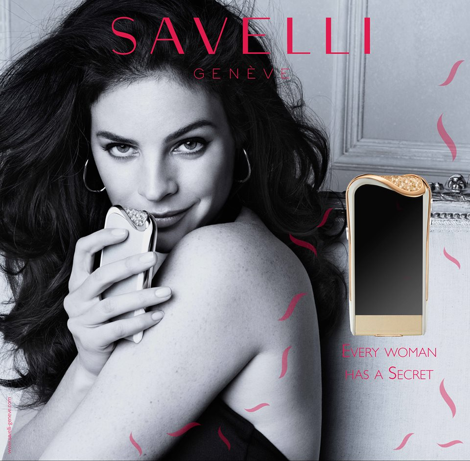 Savelli campaign at Harrods in London, starring Julia Restoin Roitfeld.