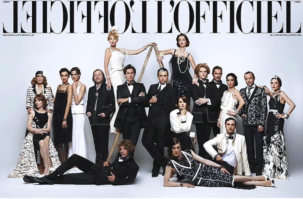 Karl Lagerfeld for L'Officiel October 2013