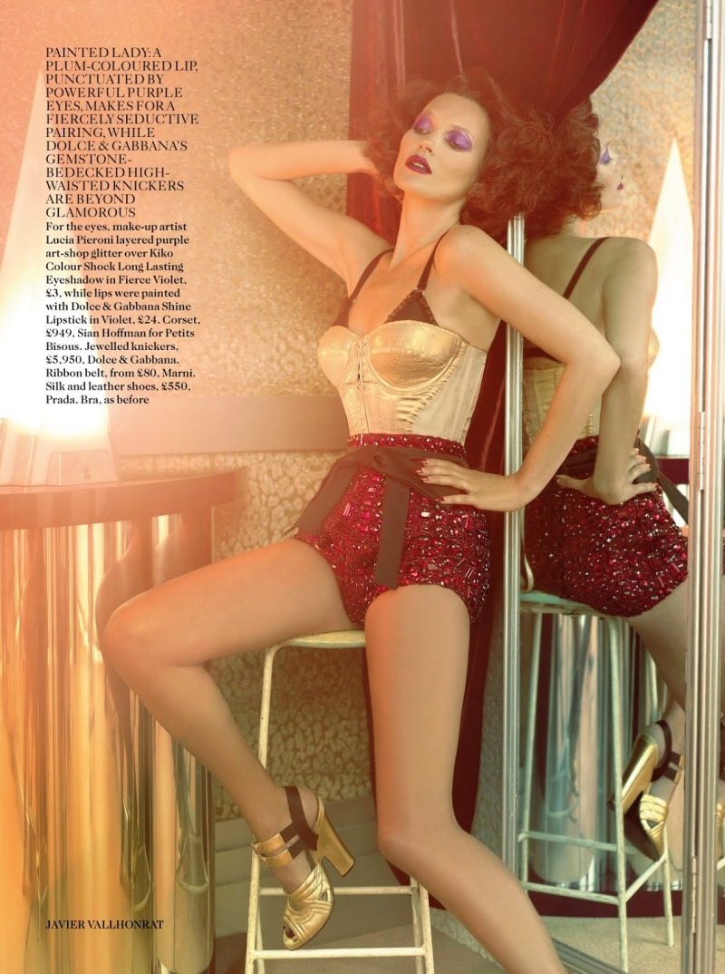 Kate Moss By Javier Vallhonrat For Vogue UK October 2013
