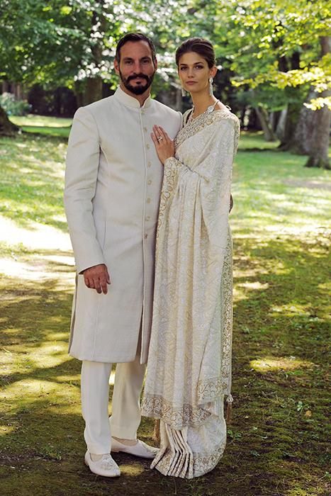 Kendra Spears and Prince Rahim Aga Khan