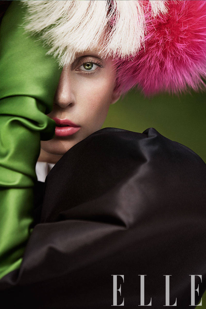 Lady Gaga by Ruth Hogben for ELLE US October 2013
