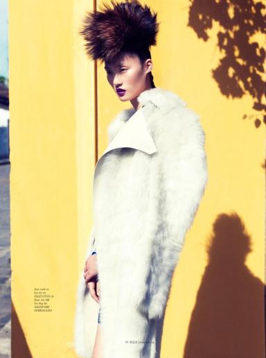 Lina Zhang by Stockton Johnson for ELLE Vietnam October 2013
