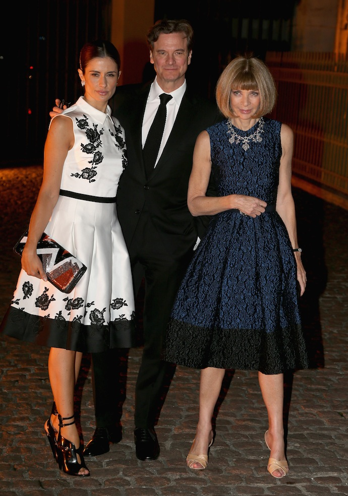 Livia and Colin Firth with Anna Wintour