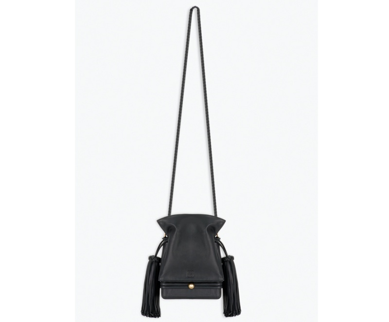 Loewe  Black leather Flamenco bag,
