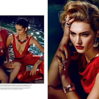 Luana Teifke & Marcelia Freesz by Fabio Bartelt for ELLE Brazil September 2013