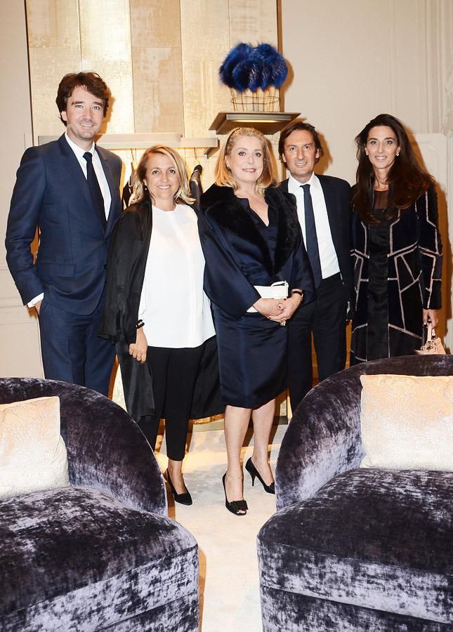Antoine Arnault, Silvia Venturini Fendi, Catherine Deneuve, Pietro and Elisabetta Beccari