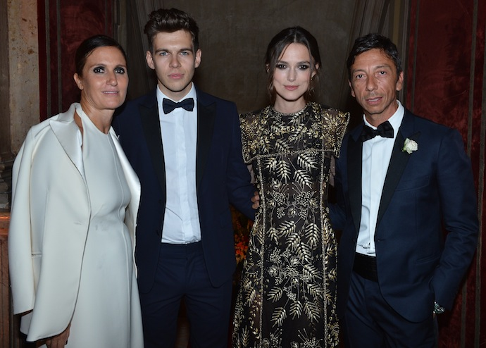 Maria Grazia Chiuri;James Righton;Keira Knightley;Pier Paolo Piccioli