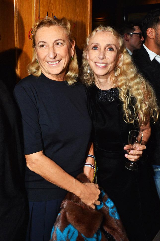 Miuccia Prada and Franca Sozzani