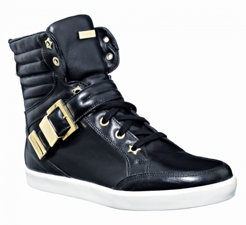 Nappa leather with brushed gold buckle, Albano (146 euro