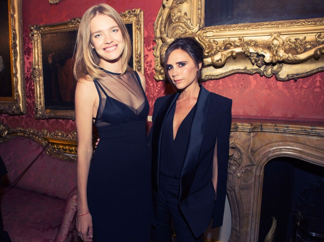 Natalia Vodianova and Victoria Beckham