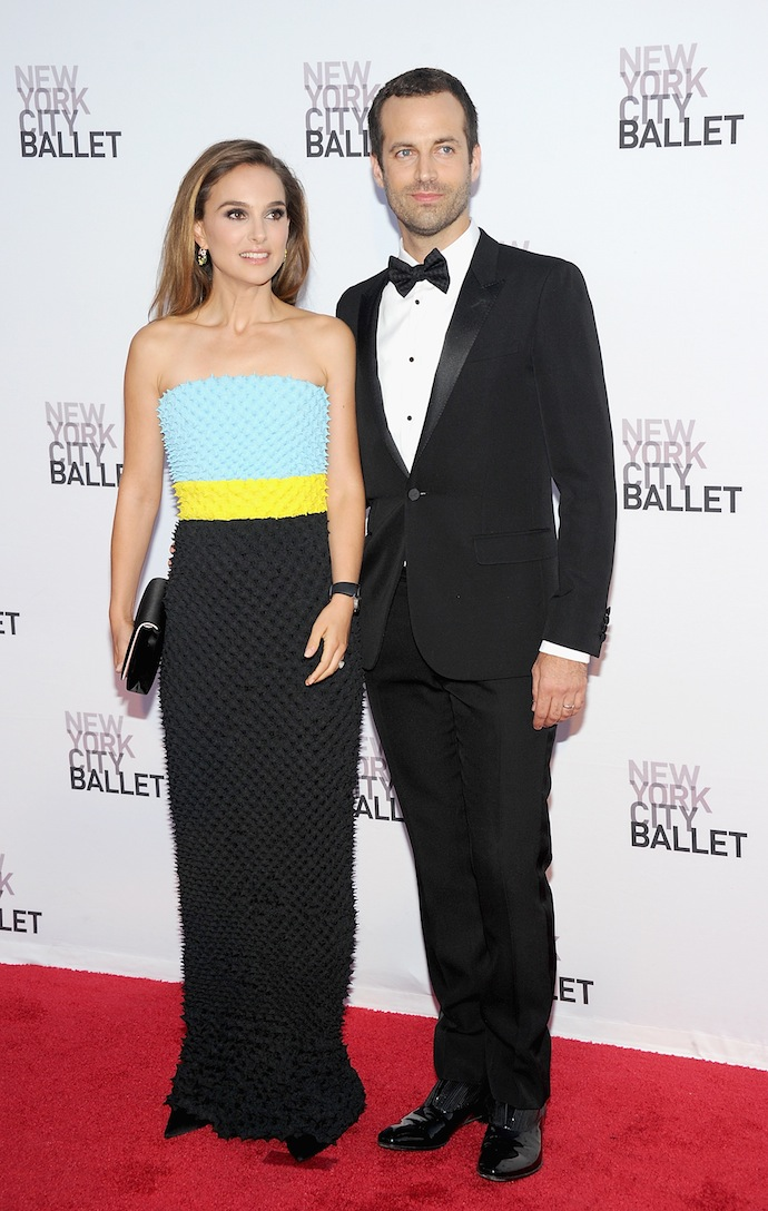 Natalie Portman and Benjamin Milpied