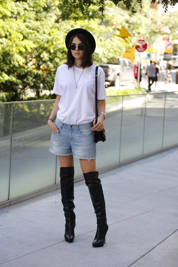 New York Fashion Week street style. Photo by Kyle Ericksen