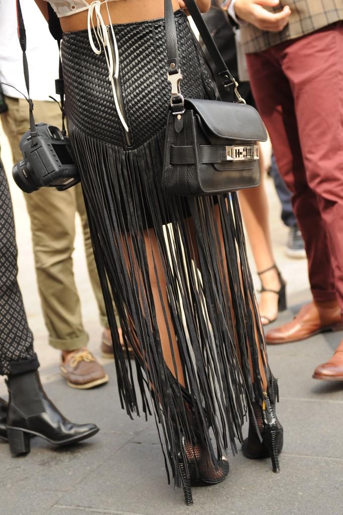 New York Fashion Week street style. Photo by Steve Eichner