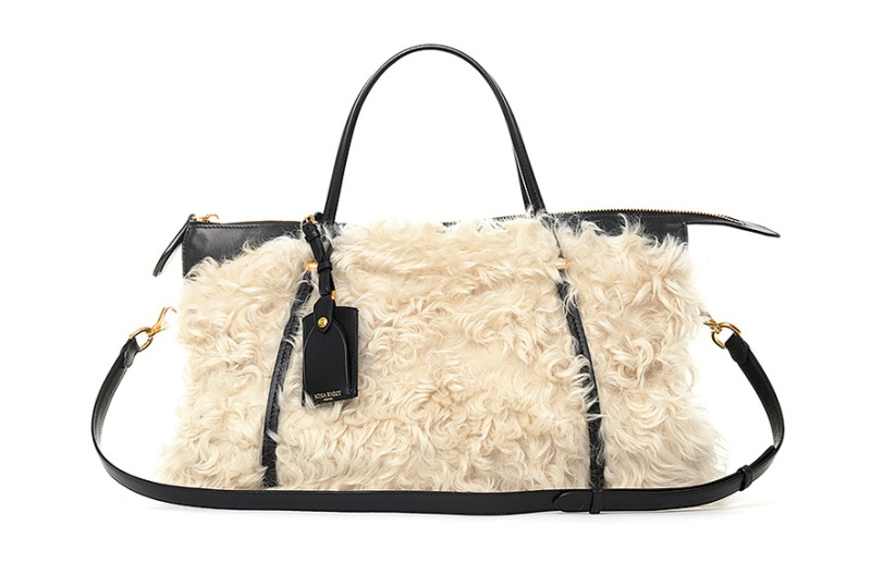Nina Ricci  Shearling and black calfskin Ballet bag, €2950