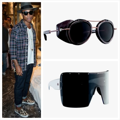Pharrell Williams' Moncler Lunettes launched last nightt the opening of Moncler store in Paris