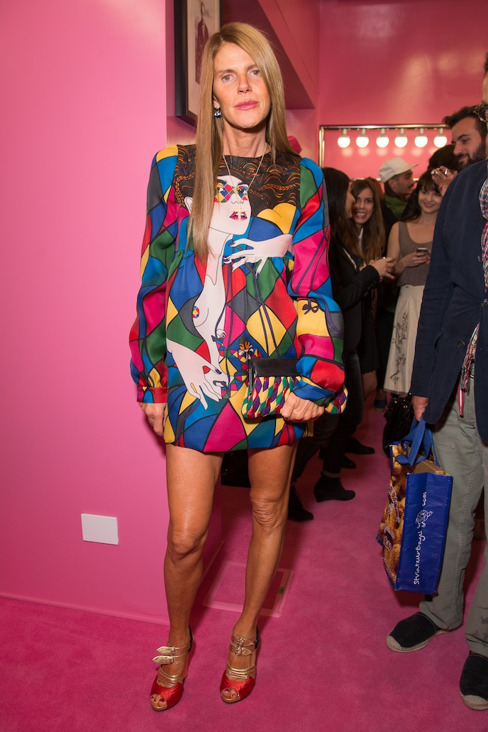 Anna Dello Russo attends opening cocktail of Piave 37,