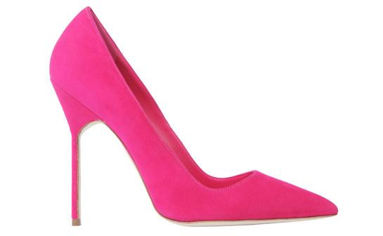 Pink calfskin BB heels, Manolo Blahnik, €450