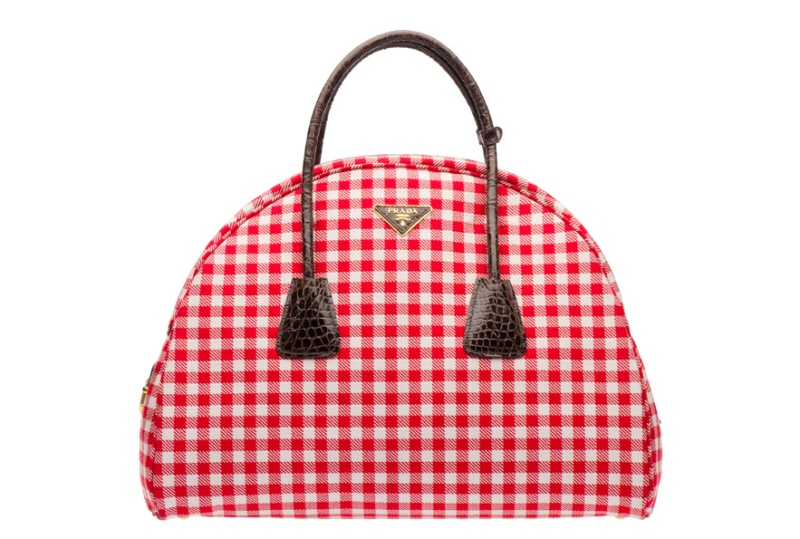 Prada  Gingham print and leather bag, €2700