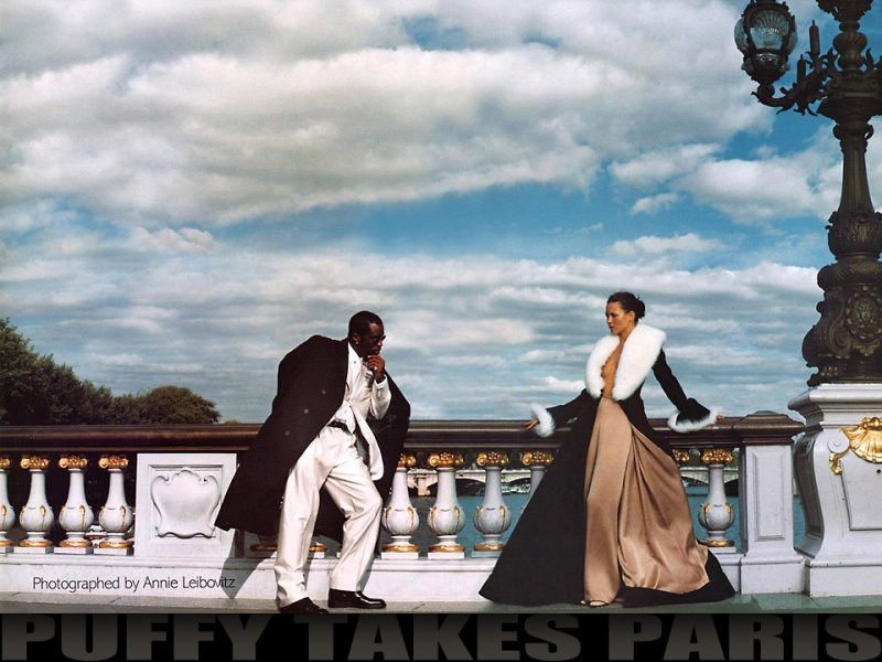 Puff Daddy and Kate Moss by Annie Leibovitz for Vogue US October 1999