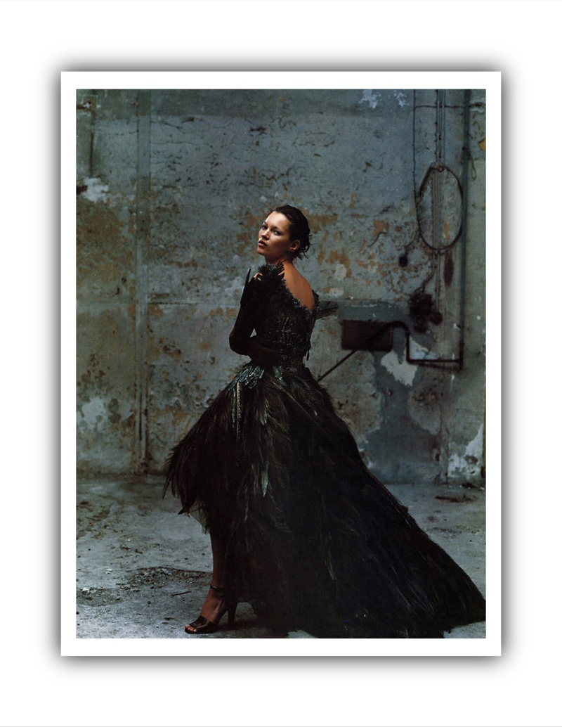 Kate Moss by Annie Leibovitz for Vogue US October 1999