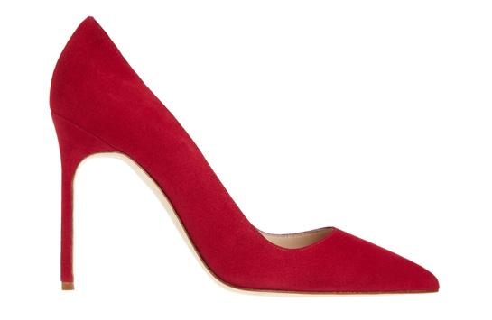Red calfskin BB heels, Manolo Blahnik, €450
