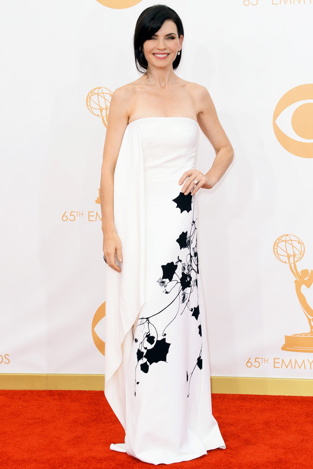 Julianna Margulies, in Reed Krakoff, with Fred Leighton jewels