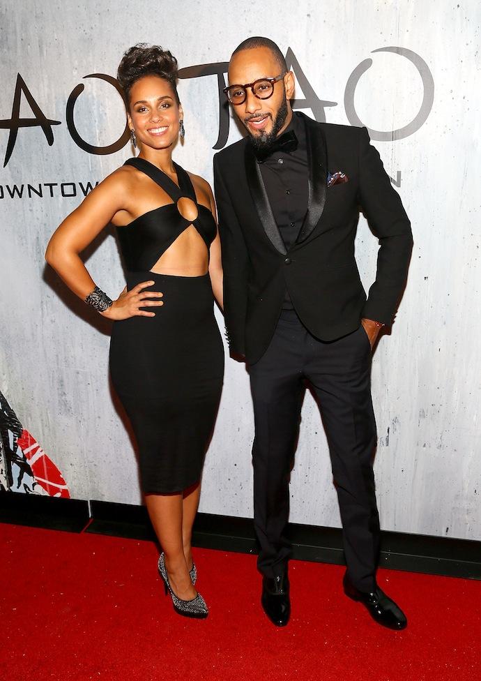 Alicia Keys and her dapper husband Swizz Beatz