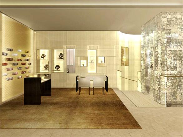 Rendering boutique Fendi - Fendi Boutique, Casa Carcassola Grandi Via Montenapoleone 3