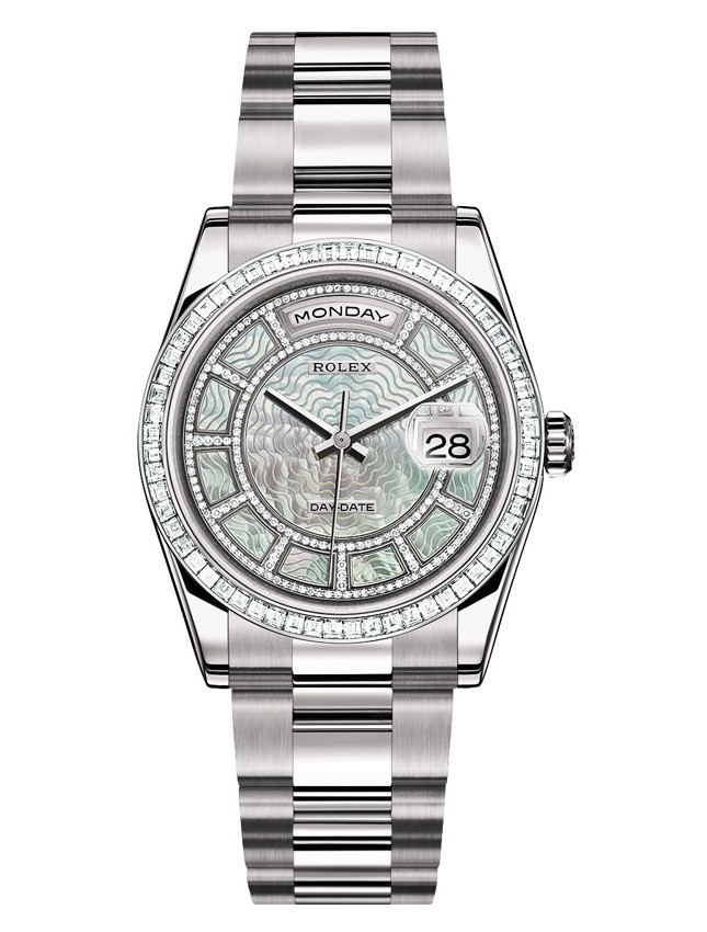 Rolex Oyster Perpetual Day Mother of Pearl Carousel