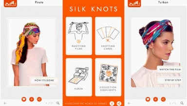 Silk Knots : a new mobile application from Hermès