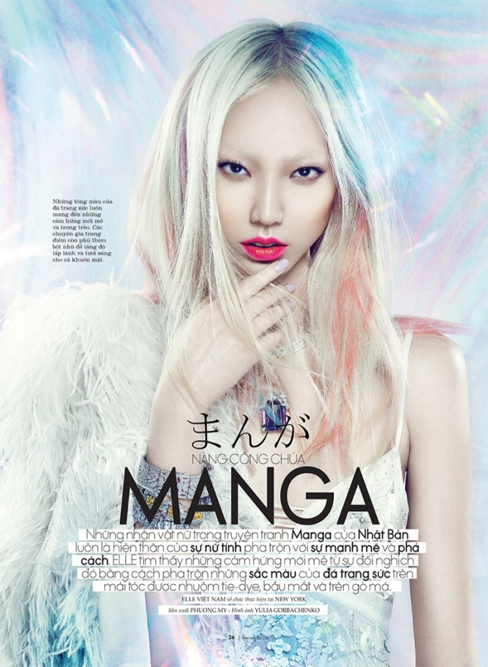 Soo Joo by Yulia Gorbachenko for ELLE Vietnam October 2013