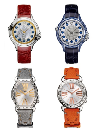 Special edition of watches for the new Fendi Boutique in Milan
