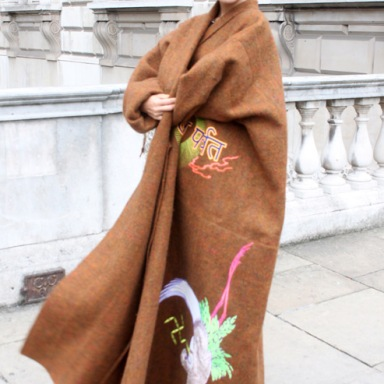 Street style at London Fashion Week Spring/Summer 2014 Photo by Nicoletta Cianci