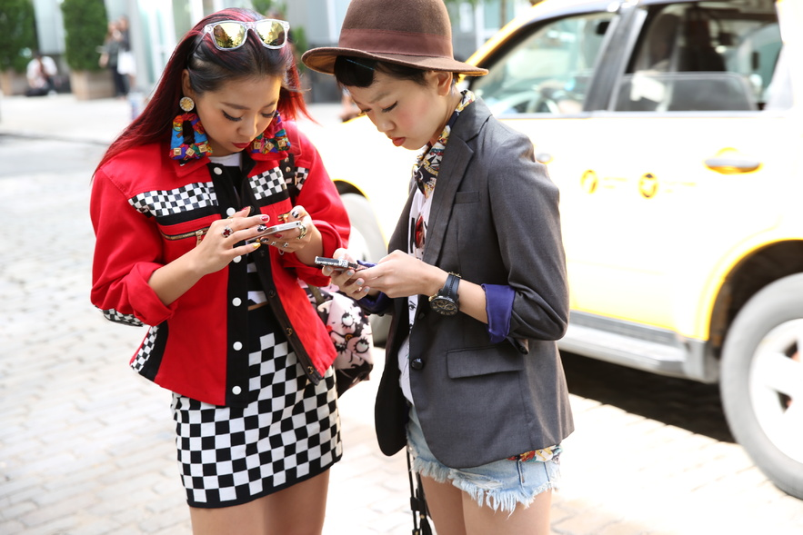Street style at New York Fashion Week Spring/Summer 2014, by photographer Saskia Lawaks
