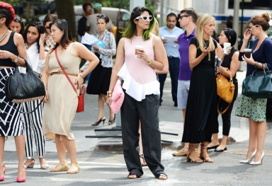 Off The Runaway at Street Style at NYFW Spring 2014 by Tommy Ton