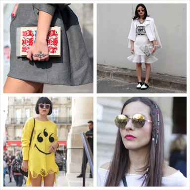 Street Style at Paris Fashion Week Spring/Summer 2014